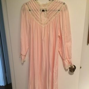 Vintage Satin Flannel-lined Nightgown